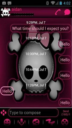 go sms lindas cute theme