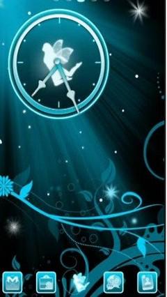 Go Launcher Blue Fairy Theme