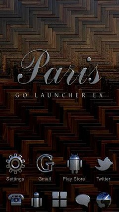 Paris GOLauncher EX Theme
