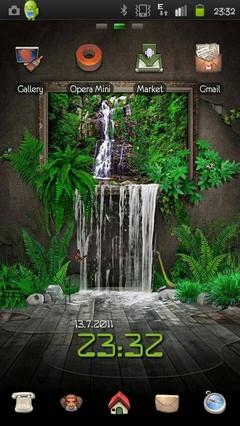 Theme 3D Waterfall