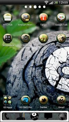 Eight Ball GO Launcher Theme