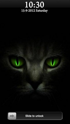 Galaxy s4 Black Cat Go Locker Theme