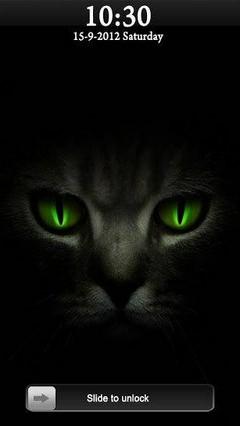 Galaxy s4 Black Cat Go Locker Theme