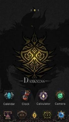 Darkness GO Launcher EX Theme