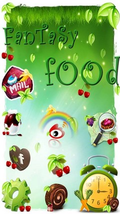 FanTasy fOOd HD GOLauncher EX Theme