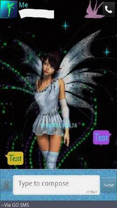 Blue Fairy Dust Go SMS Theme