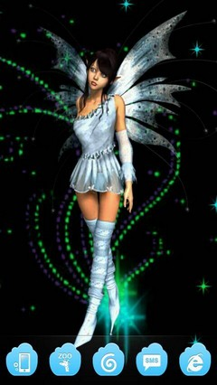 Blue Fairy Dust Go Launcher Theme