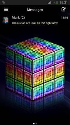 GO SMS Pro style rainbow cube