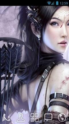 Warrior girl by vanko Go Launcher