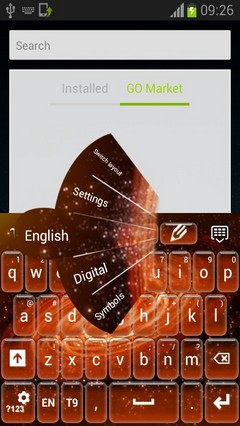 Fire Galaxy Keyboard-release