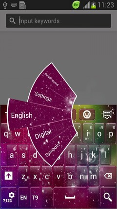 Galaxy Color Blaze Keyboard-release