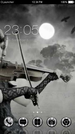 Goth Violin Clauncher Theme