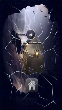 Heartless Skeleton Lock Screen