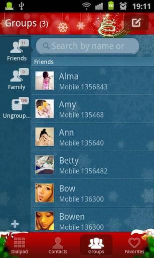 go contact christmas theme