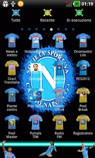 Ssc Napoli 2013 Go Launcher Theme