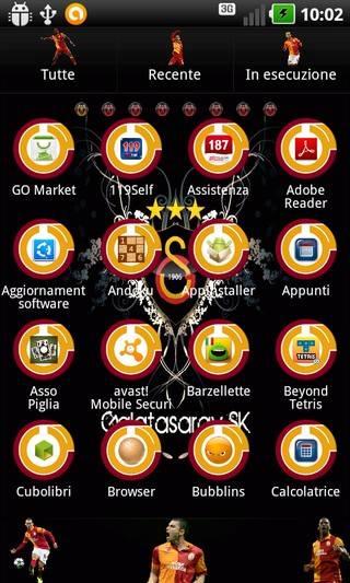 Galatasaray Sk Go Launcher Theme
