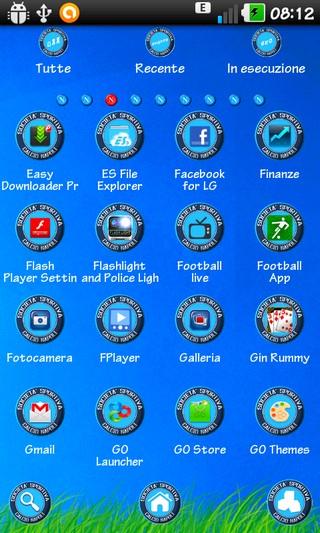 Ssc Napoli 14 Azzurro Force Edition Go Launcher Theme
