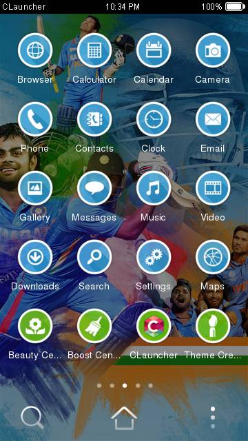 Indian Cricket CLauncher Theme