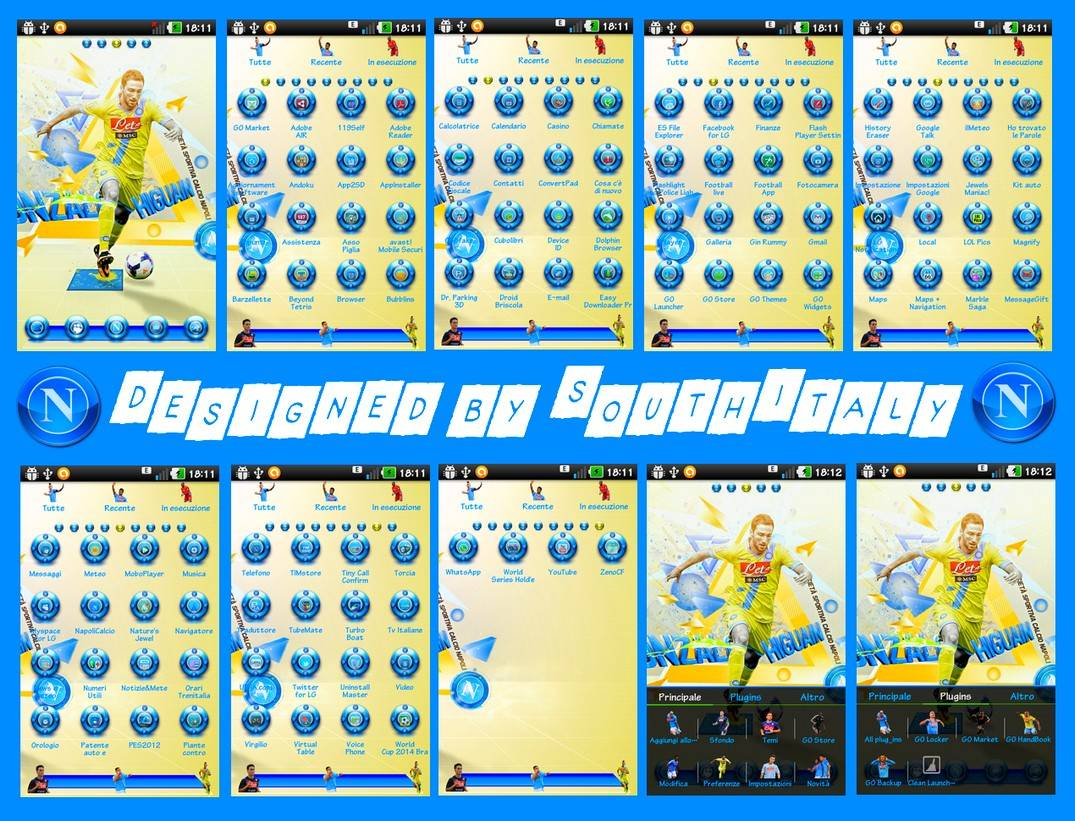 Ssc Napoli 14 Yellow Power Edition Go Launcher Theme