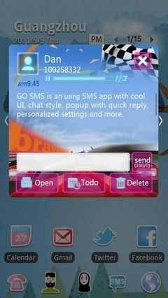 Racing GO SMS Theme 1.0