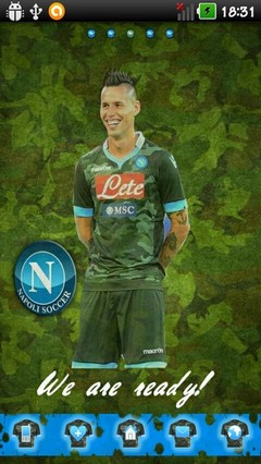 Ssc Napoli 14 Camo Fight Edition Go Launcher Theme