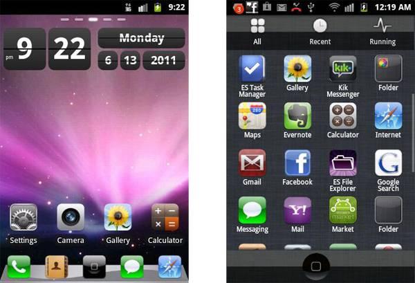iPhone Go Launcher EX