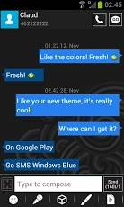 GO SMS WINDOWS 8 BLUE THEME