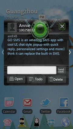 Steel Ring GO SMS Theme 1.0