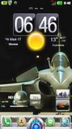 GO launcher ex Air Fighter theme