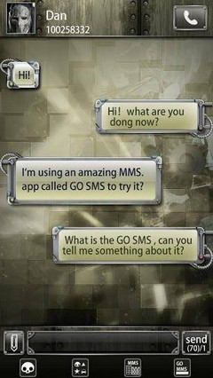 go sms Machine city theme