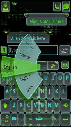 Go keyboard AlienX theme