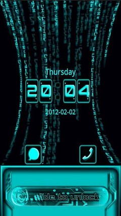go locker blue tech theme