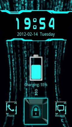 go locker blue tech 2 theme