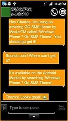 GOSMSPro WindowsPhone7OrangeTheme