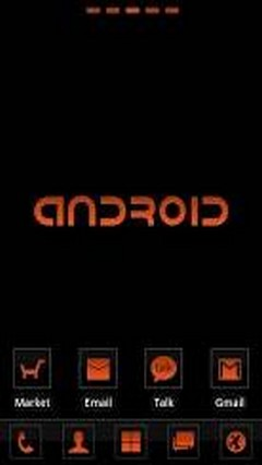 Clear orange Go Launcher Theme