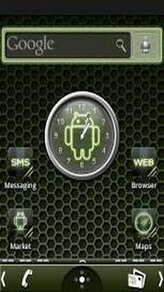 Carbon glow Android theme