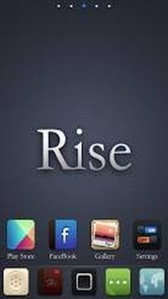Rise Android Go Launcher Theme