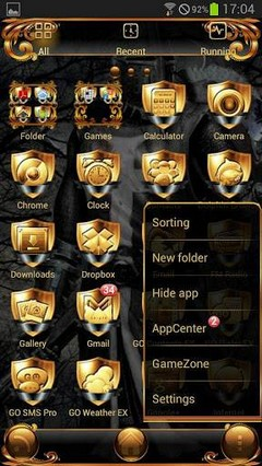 Black Knight GO Launcher Theme v1.02