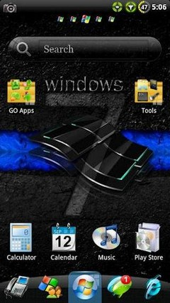Windows 7 GO Launcher EX Theme 1.31