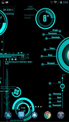 JARVIS High Pitched OS 1.1 Android Launcher Theme