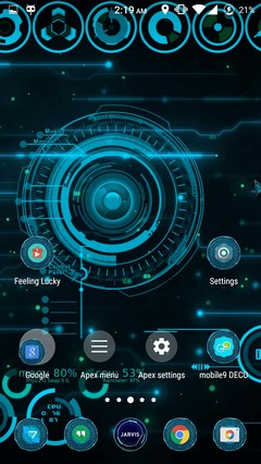 Jarvis ironman OS android launcher theme