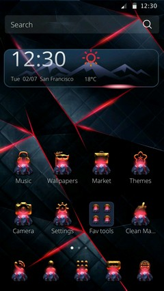 Dark Red Tech Theme