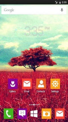 Tree symmetry ADW Launcher Theme