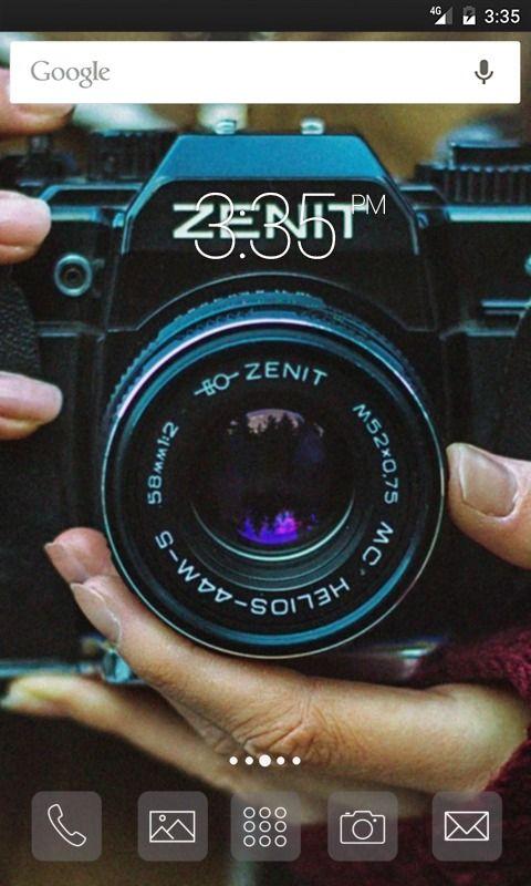 Zenit photo vintage Nova Launcher Theme