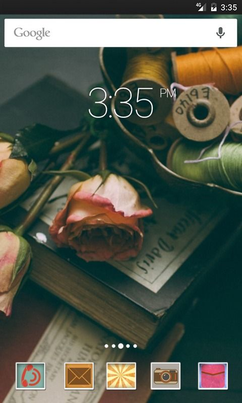 Book thread rose ADW Launcher Theme