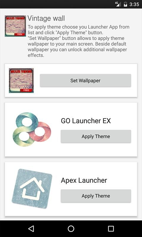 Vintage wall ADW Launcher Theme