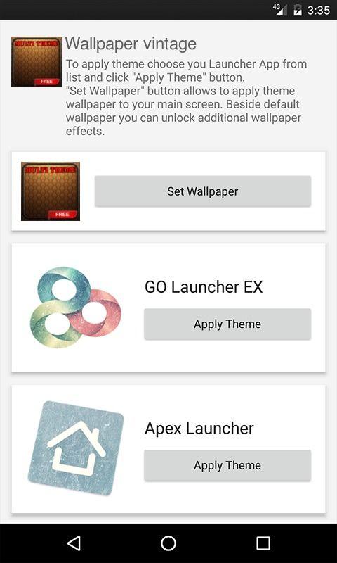 Wallpaper vintage GO Launcher Theme