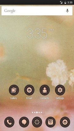 Vintage flower old GO Launcher Theme