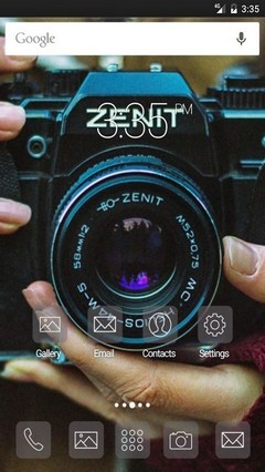 Zenit photo vintage Nova Launcher Theme