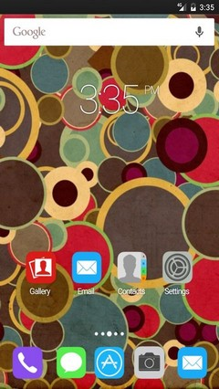 Retro circles GO Launcher Theme